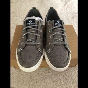 Sperry Girl's Lounge LTT Sneakers Grey 1, 2, 2.5